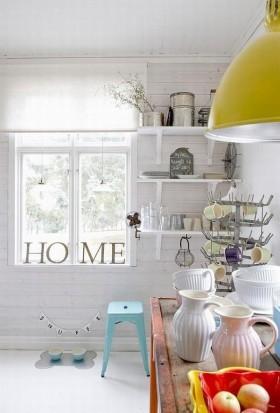 14万打造纯白欧式风格二居厨房橱柜装修效果图大全 吊顶装修