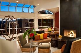 美式乡村别墅创意客厅装修效果图大全