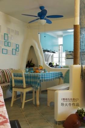 地中海风格70平米二居餐厅装修效果图
