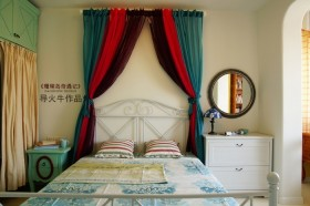 地中海风格卧室床装修效果图