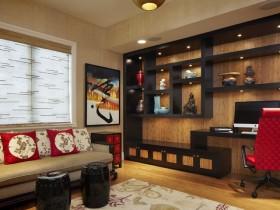 中式客厅博古架图片 中式装修效果图大全