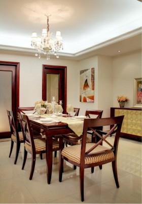 简雅欧式三居室餐厅吊顶装修效果图大全