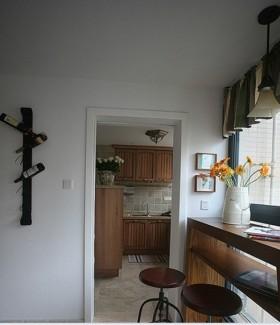 田园风格二室一厅厨房装修效果图