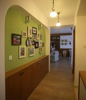 田园风格二室一厅背景墙装修效果图