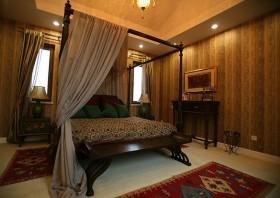 奢华浪漫的欧式别墅卧室吊顶装修效果图大全