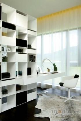 客厅隔出小书房装修图片 书房装修效果图大全2012图片