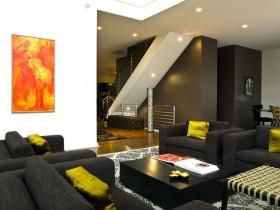 现代动感的复式楼客厅装修效果图大全