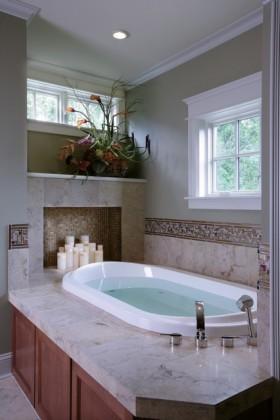 2室1厅浪漫地中海风情卫生间浴缸装修效果图