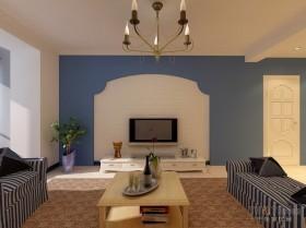 天富家园地中海风格电视背景墙装修效果图大全2012图片