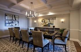 160平欧式现代风格餐厅装修效果图大全