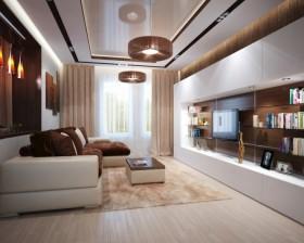 13万打造浪漫现代风格二居客厅电视背景墙装修效果图大全