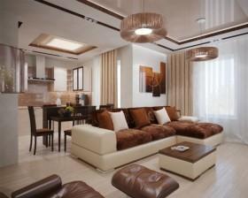 13万打造浪漫现代风格二居客厅吊顶装修效果图大全2012图片