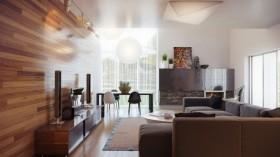17万打造浪漫现代风格二居客厅背景墙装修效果图大全