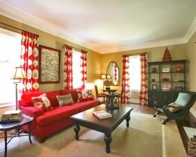 16万打造华美中式风格二居客厅窗帘装修效果图大全