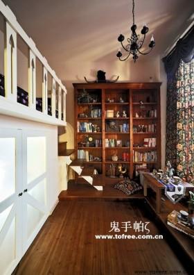 复古的田园风格复式楼书房装修效果图大全2012图片