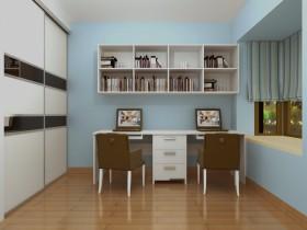 两房一厅新婚房装修 简约的书房