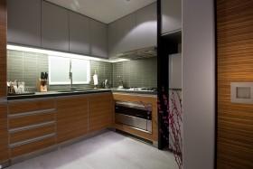 80平米小户型厨房整体橱柜效果图