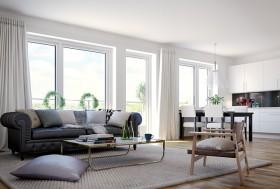 一室一厅小户型客厅飘窗装修效果图大全