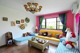 地中海风格小客厅装修效果图大全2013图片