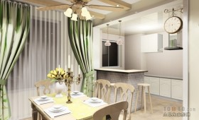 30万打造田园风格餐厅装修效果图大全2012图片