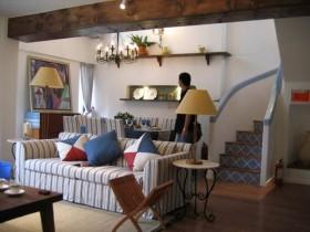 小复式地中海风格客厅装修效果图大全