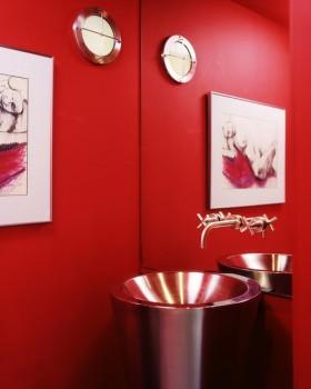12万打造小户型浪漫婚房 卫生间洗手台装修效果图