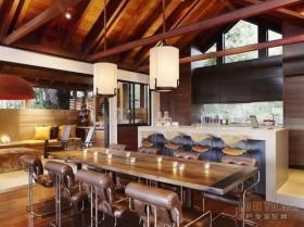 欧式家庭复式餐厅吊顶设计