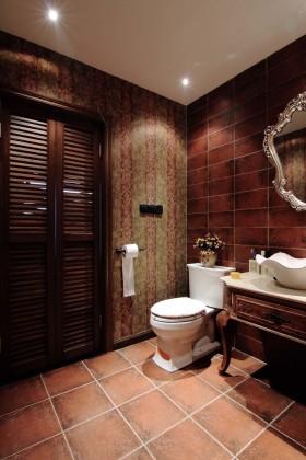 海悦蓝庭复式美式风格卫生间装修效果图