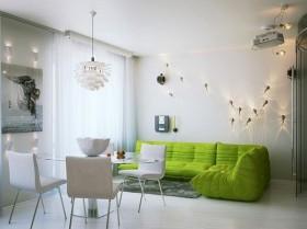 绿色宁谧的现代小户型客厅飘窗装修效果图大全