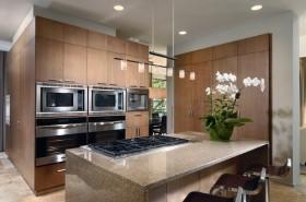 3室2厅现代风格厨房橱柜吧台装修效果图大全