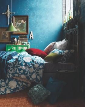 两室一厅蓝色倾心的卧室装修效果图大全2012图片