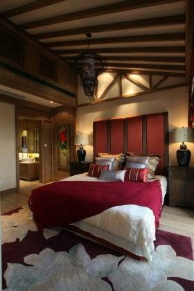 150平简复式 中式古典卧室吊顶装修效果图