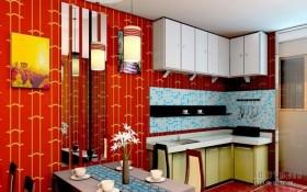 小户型东南亚风格厨房装修效果图大全2012图片