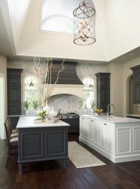 2室1厅温馨舒适的欧式厨房橱柜装修效果图