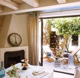 复式楼温暖明亮的田园风格阳台装修效果图大全