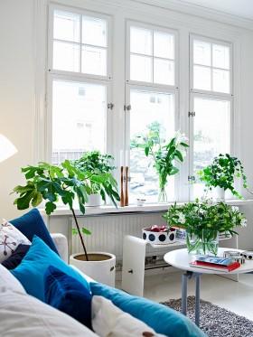 二室二厅北欧清新的客厅飘窗装修效果图大全