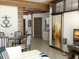 中惠香樟绿洲客厅隔断地中海装修设计