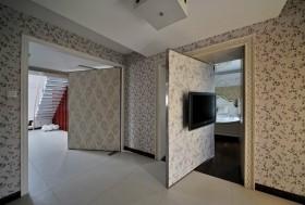 隐形门背景墙设计