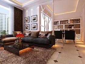 现代时尚三居室餐厅装修吊顶效果图大全2012图片