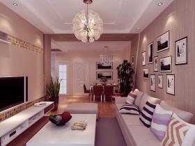 简约温馨的二居室客厅电视背景墙装修效果图大全