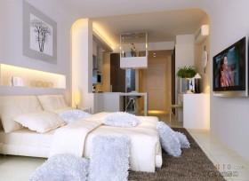 单身公寓简约卧室装修效果图大全2012图片