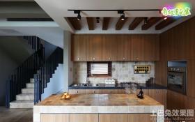 复式楼开放式厨房装修效果图大全