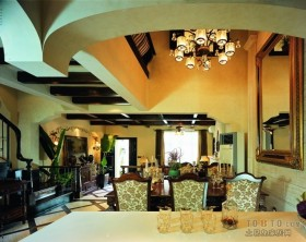 万科松山湖美式风格餐厅装修效果图大全2012图片
