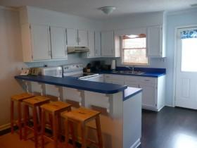 8万打造清新地中海风格小户型厨房橱柜装修效果图大全