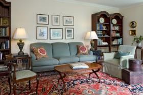 9万打造田园地中海风格小户型客厅装修效果图大全
