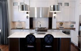17万打造温馨奢华欧式风格二居厨房橱柜装修效果图大全