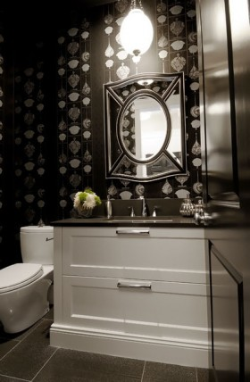 17万打造温馨奢华欧式风格二居卫生间背景墙装修效果图大全