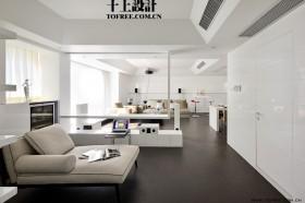 9万打造白色简约风格客厅装修效果图大全2012图片