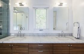 105平米二居室简约风格卫生间洗手台装修效果图大全
