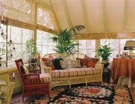 17万打造田园风格三居客厅飘窗装修效果图大全
